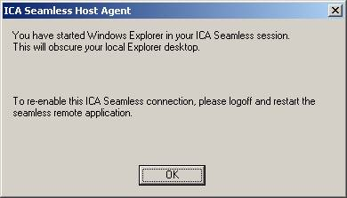 Citrix Seamless error