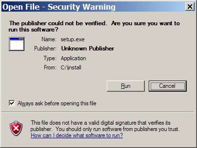 Windows XP SP2 - Open File Security Dialog