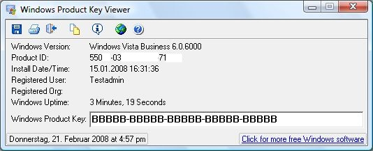 Vista License Key