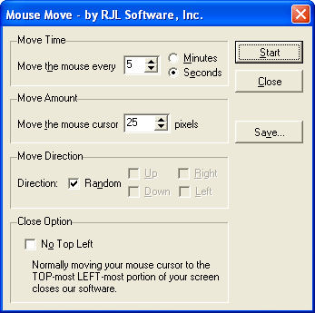 Mouse Move v1.01 Screenshot