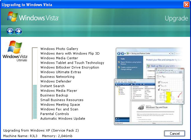 Click to view Vista Upgrade Prank 1.00 screenshot
